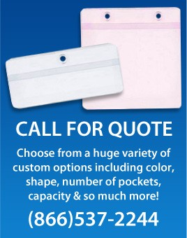 Job Ticket Holders are most commonly used in shop environments to hold job ticket information in a durable vinyl sleeve, keeping the information protected and organized. Let us help you create custom job ticket holders including custom sizes, colors, pockets and more. Call (866)537-2244 for a price quote.