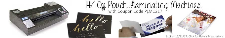 14% off Pouch Laminating Machines | Binding101 Coupon Code