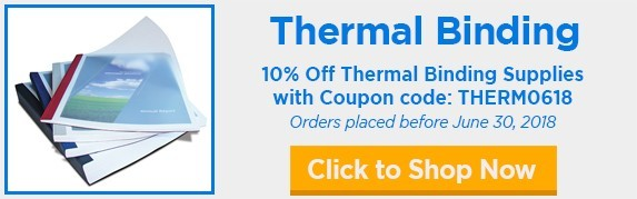 10% Off Thermal Binding Covers with this Binding101 Promo Code